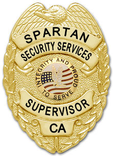 Spartan Security Services Badge (Supervisor)